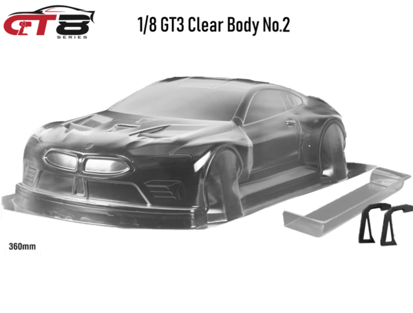 "1/8 GT8-Series ""Clear Body No.2""   GT3 360MM"