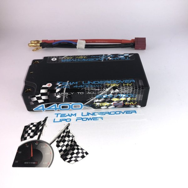 4400mAh 2S HV Low Profile(LCG) Shorty Competition Lipo  4mm Anschlüsse - 200C/100C - 7,6V